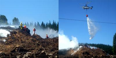 Incendio al interior de CMPC Planta Laja