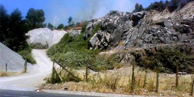 Laja - Incendio sector Cantera