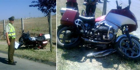 Lajino.cl - Accidente de motocicleta en calle Felix Eicher