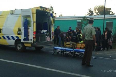 Estudiantes fueron atropelladas a las afueras del Área Técnica del Liceo A-66 de Laja