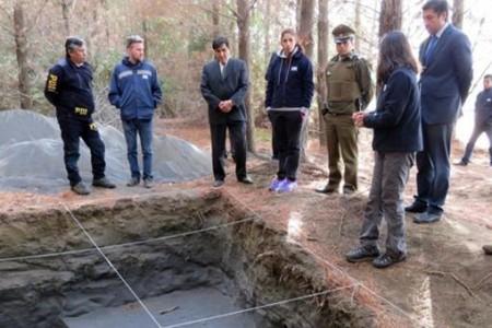 Ministro Carlos Aldana realizó inspección ocular a sitio en donde se realizaron diligencias por episodio Laja-San Rosendo