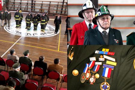 """Voluntarios lajinos reciben reconocimiento por años de servicio en el marco del """"Día del Bombero"""""""