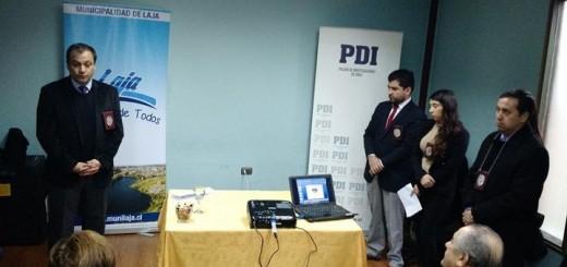 Funcionarios de la PDI realizaron charla de seguridad en la comuna lajina
