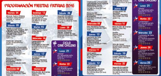 Programa Fiestas Patrias / Laja