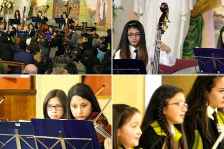 Con un concierto la Orquesta Clásica Infantil de Laja celebró su sexto aniversario