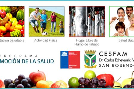 """Programa """"Promoción de la Salud"""" impulsado por Cesfam San Rosendo invita a incorporar hábitos de vida saludable"""