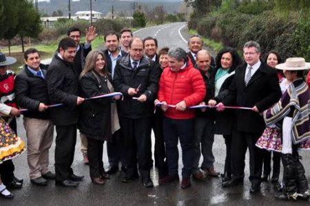 Ministro de Obras Públicas inaugura Ruta Q60-O entre Talcamávida – Quilacoya