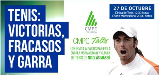 Nicolás Massú realizará clínica de tenis y charla motivacional en Laja