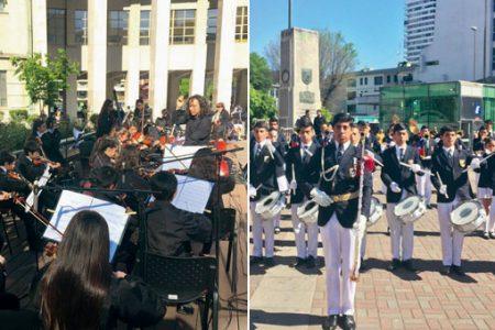 Banda de Guerra y Orquesta Clásica lajina fueron invitadas estelares en Semana Cultural del Poder Judicial