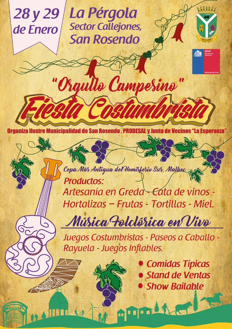 SAN ROSENDO   Fiesta Costumbrista 28 Y 29 ENERO