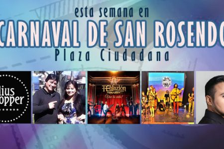 Este fin de semana en Carnaval de San Rosendo; Blues rock, humor, baladas, cumbia y folklore
