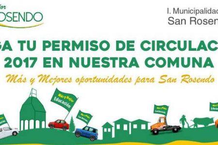 Alcalde de San Rosendo invita a superar recaudación 2016 por permiso de circulación en busca de establecer sistema de becas