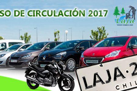 Municipalidad de Laja recuerda pago Permiso de Circulación 2017