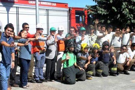 Forestín se tomó el centro de Laja en campaña contra los incendios forestales