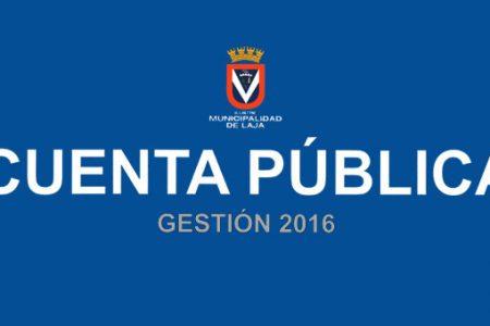 Alcalde de Laja rinde Cuenta Pública gestión 2016