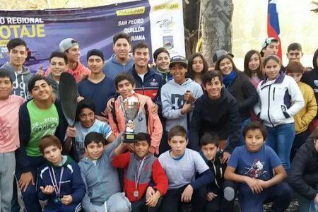 Laja se coronó campeón de canotaje regional