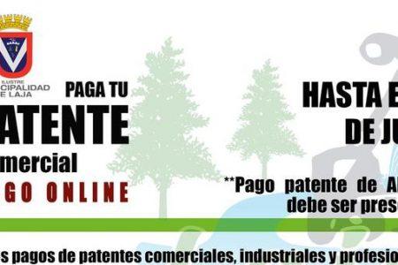 Municipio lajino recuerda vencimiento de plazo para pago patentes comerciales