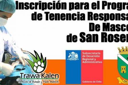 Inscripción para Programa de Tenencia Responsable de Mascotas de San Rosendo