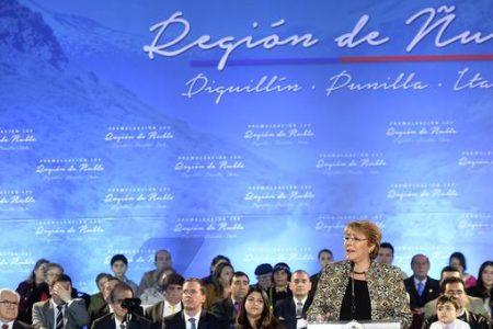 Presidenta de la República promulgó la Ley que crea la Región de Ñuble